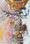 Рисунок на канве 37х49см Зимний вечер