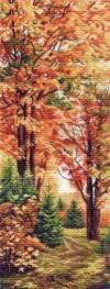 Рисунок на канве 40х90см Осенняя пора
