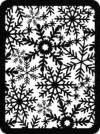 Трафарет-маска Снежинки, 15х21см