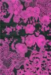 Бумага DECOPATCH Кружева малиновые на черном