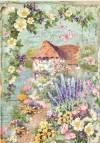 Бумага рисовая Stamperia А4 Весенний пейзаж