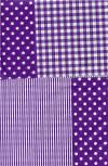 Бумага DECOPATCH Клетка-полоска-горох (фиолет.)