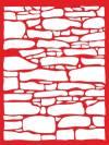 Трафарет 15х18см., Каменная стена