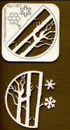 Чипборд Деревья, 10см