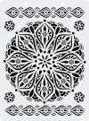 Трафарет пластиковый 12,5х17см Готический цветок
