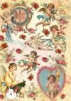Бумага рисовая Craft Premier А4, Ангелы и голуби