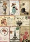 Бумага рисовая Craft Premier А4, Винтажные открытки