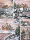 Бумага рисовая Craft Premier А4, Зимний пейзаж