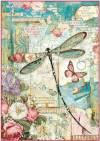 Бумага рисовая Stamperia А4 Волшебная страна, стрекоза