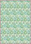 Бумага рисовая Stamperia А4 Зеленый орнамент
