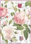 Бумага рисовая Stamperia А4 Винтажная роза