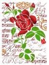 Трафарет 21х29,7см, Роза