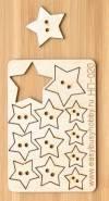 Набор декоративных пуговиц Звезды