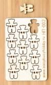 Набор декоративных пуговиц Мишки