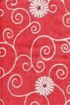 Бумага DECOPATCH Завитки с ромашками на красном