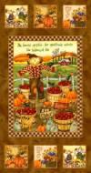 Ткань для пэчворка, панель, 60х110см, серия Harvest Angels 4467