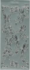 Контурные наклейки Цветочные эльфы, цвет Серебро