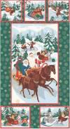 Ткань для пэчворка, панель, 60х110см, серия Новогодние чудеса