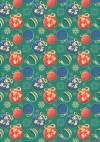 Ткань для пэчворка, панель, 50х55см, серия Новогодние чудеса