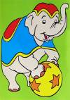 Наборы для раскрашивания цветным песком, 16х22,5см, Слон в цирке