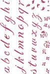 Трафарет 21х29,7см, Алфавит