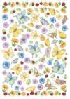 Войлочное полотно с напечатанным рисунком, 50х70см, Бабочки