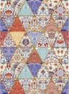 Рисовая карта Cadence 30х41см, Плитка - треугольники