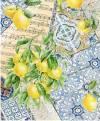 Рисовая карта Cadence 30х41см, Крупные лимоны