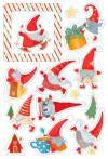 Чипборд цветной Новогодние хлопоты