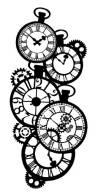 Трафарет 12х25см, Mix Media 3D эффект, Часы