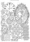 Форма для мягких моделирующих паст, Бабочка и рукопись