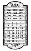 Штамп на резиновой основе HD, 7х11см, Календарь