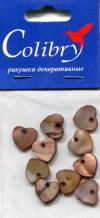Ракушки декоративные Сердечки - GBS13