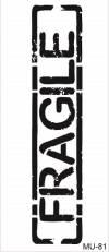 Трафарет пластиковый Mixed Media Cadence, 10х25см, Fragile