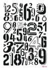 Трафарет пластиковый Mixed Media Cadence, 21х29см, Цифры, фон