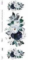 Рисовая карта Watercolor Flower Cadence 30х68см, Цветочная композиция