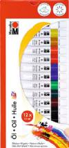 Набор маслянных красок Marabu-Oi, 12 цветов по 12 мл