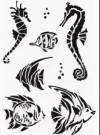 Трафарет А4, Рыбки