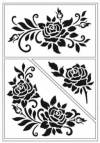 Трафарет самоклеющийся А5, Розы