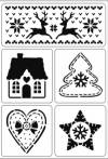 Трафарет самоклеющийся А5, Скандинавское рождество
