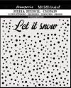 Трафарет 18х18см, Mix Media 3D эффект, Пусть идёт снег
