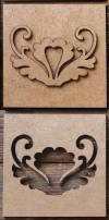 Плитка Не керамика, 5х5см, Ракушка