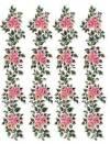 Трансфер универсальный 25х17см Бордюры из роз, серия Страна роз