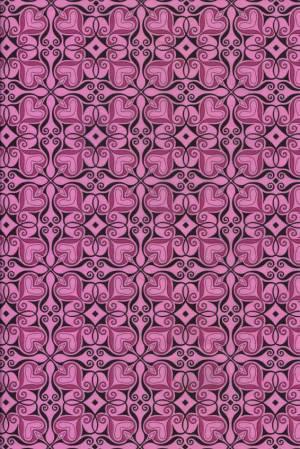 Бумага DECOPATCH Сердечки черно-розовые