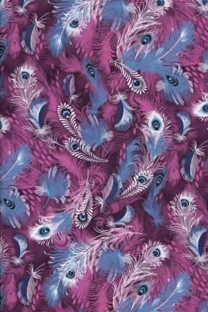 Бумага DECOPATCH Перо фиолетово-голубое