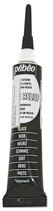 Рельеф Pebeo Vitrail Cerne relief, цвет Черный