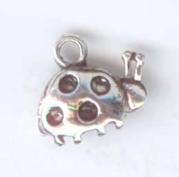 Металлическая подвеска Божья коровка 1 цвет античное серебро