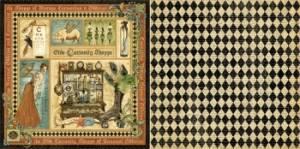 Бумага д/скрап двусторонняя, Olde Curiosity Shoppe, серия Olde Curiosity Shoppe
