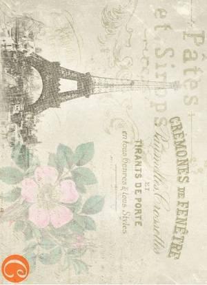 Декупажная карта А4 Прогулка по Парижу