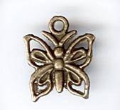 Металлическая подвеска Бабочка-1, цвет Античная бронза